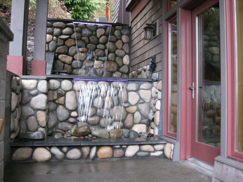 Porch side waterfall
