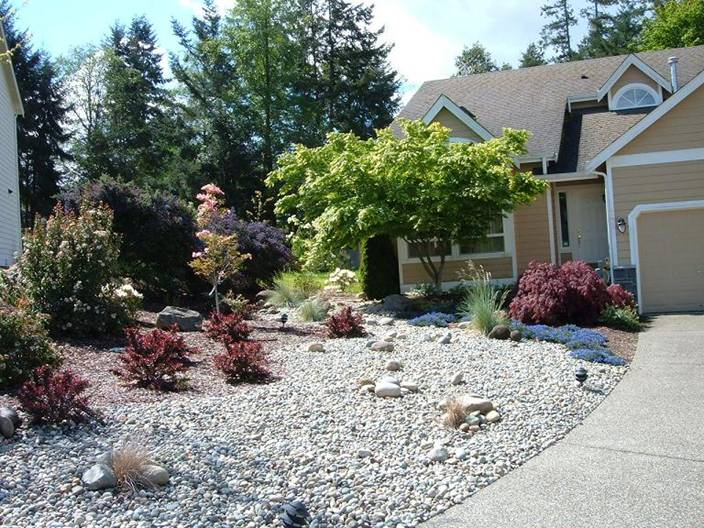 Low maintenance landscape that adds beauty and value to the home