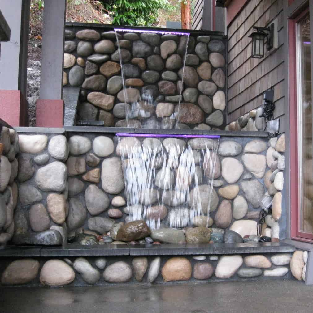 Pro-West Landscape and Hardscape 360-895-9455 turn a planter in to a waterfall water feature